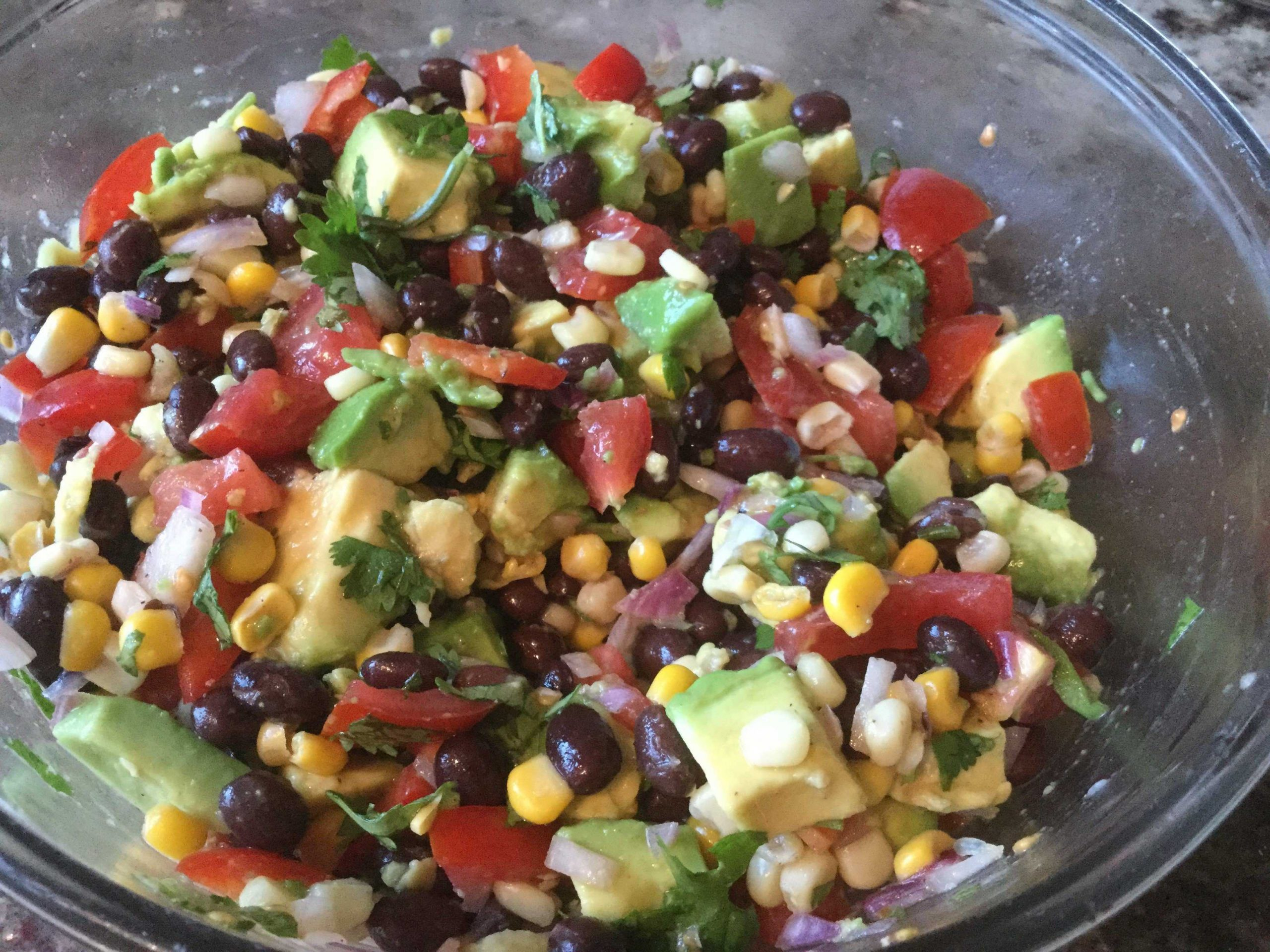 Southwest Avocado Black Bean Salad
